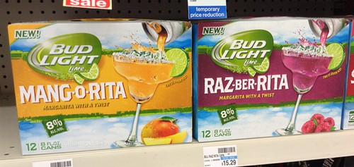 Bud Light Lime Mang-o-Rita and Raz-ber-Rita