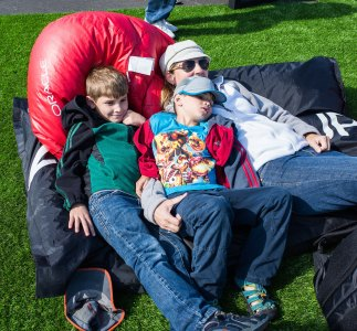 Americas Cup - lounging