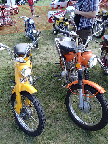 a pair of Honda CT90 Trail bikes
