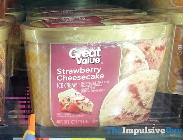 Great Value Strawberry Cheesecake ice Cream