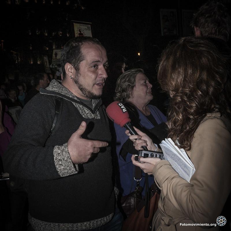 David Fernández, diputat de les CUP, en la manifestació #ProuImpunitat Foto: Fotomovimiento