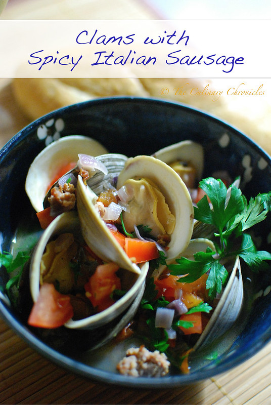 Clams with Spicy Italian Sausage