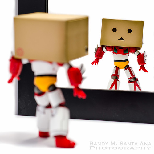 Danbo Getter Checks Herself In The Mirror.