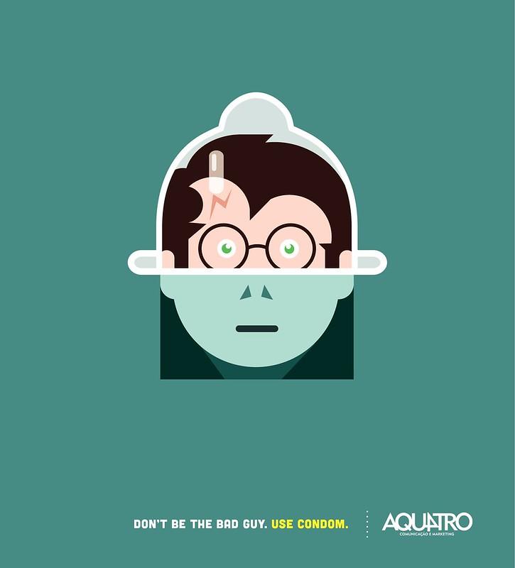 Aquatro Condoms - Potter vs Voldemort