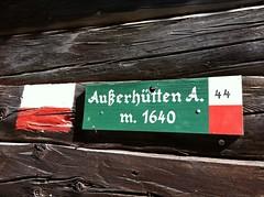 Außerhütten, Richtung Versellalm Gsiesertal