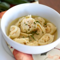 Butternut Squash Tortellini in Garlic-Sage Broth