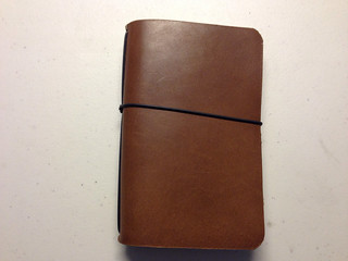Davis Leatherwork Simple Notebook Cover Closed