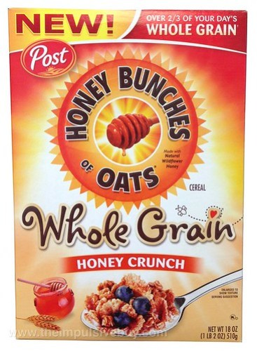 Post Honey Bunches of Oats Whole Grain Honey Crunch