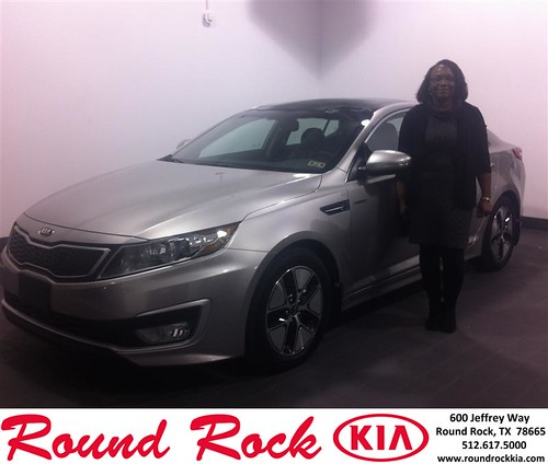 Thank you to Thelma Hill on your new 2013 #Kia #Optima Hybrid from Amir Mahboubi and everyone at Round Rock Kia! #LoveMyCar by RoundRockKia