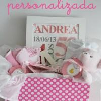 Canastilla personalizada para Andrea