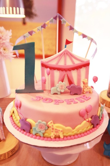Sophie S Pink Carnival Themed Party 1st Birthday Party