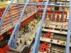 King's Cross St. Pancreas in Lego at Waterstones Picadilly