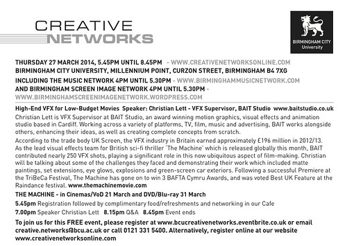 Creative Networks 27th March 2014 text