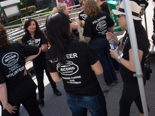 Volunteers Getting Ready for Toronto Taste 2013