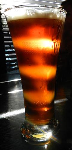 lit-up beer at Ceili's Irish Pub