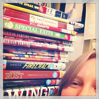 This is why I should not browse my Goodreads list on quiet nights at work #books #bookshelfie #library @aacpl