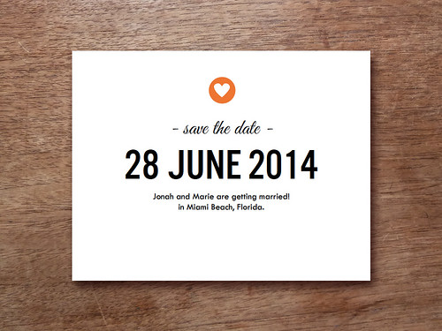 Simple Heart Save the Date Printable
