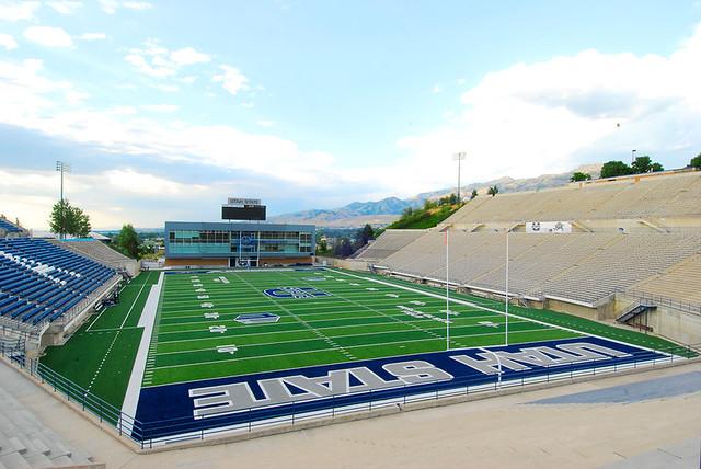 Romney Stadium at Utah State University