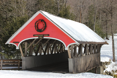 The Flume Covered Bridge in Lincoln, NH by Christopher OKeefe
