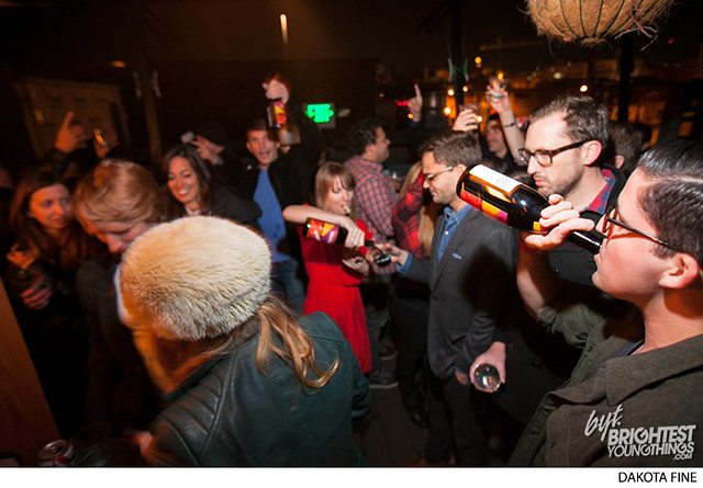 "BYT hosts their annual Beaujolais Nouveau party, ""Beaujolaid,\"" at 1905 restaurant in Washington, DC on November 20, 2013."
