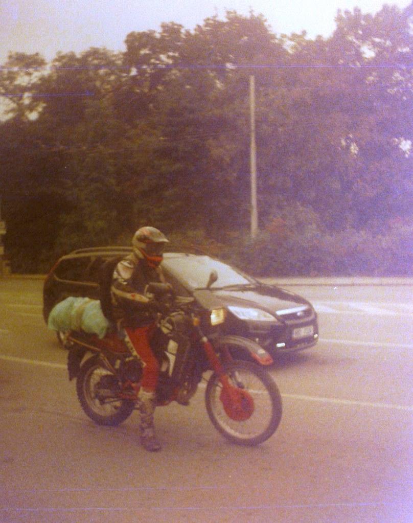 Chaika 3 (on redscale film) - Biker 2
