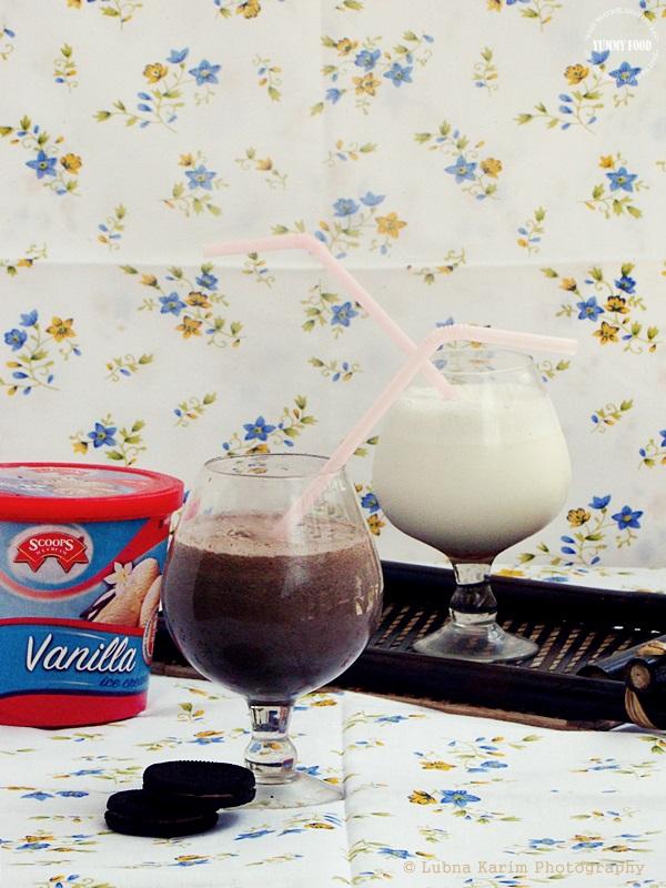 Vanilla Bean Milkshake and Oreo Milkshake