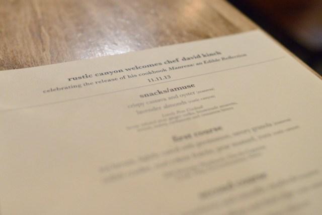 kinch menu