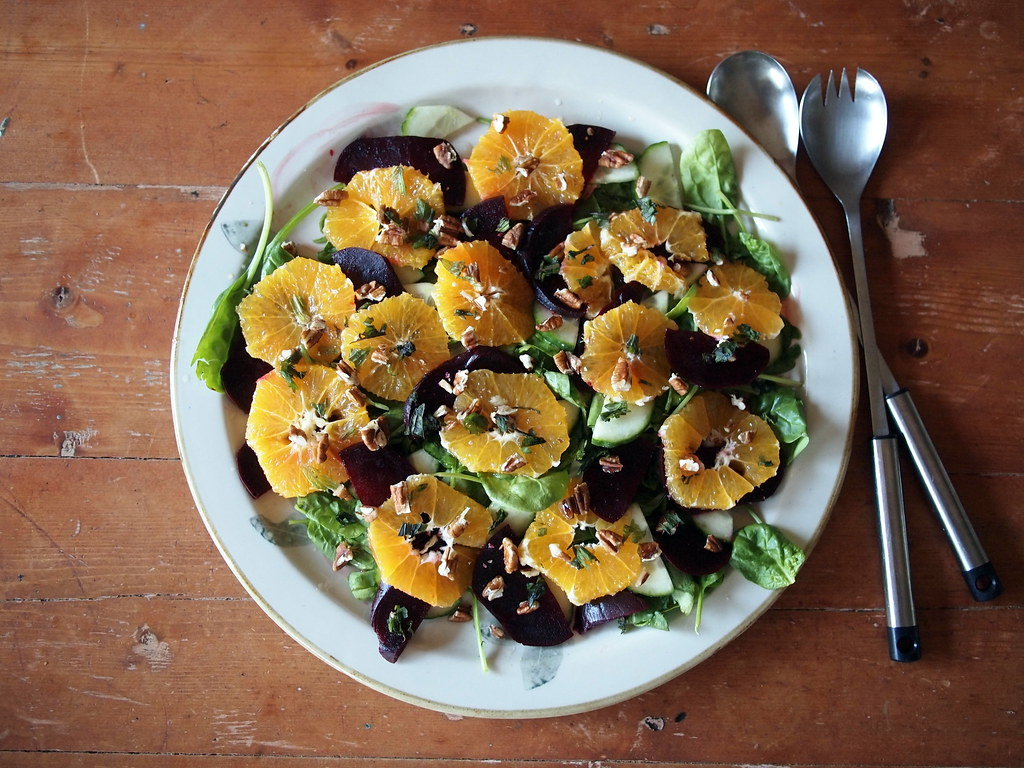 Orange and beetroot salad