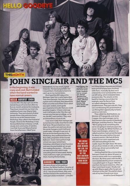 John Sinclair and the MC5 by David Sheppard MOJO March 2014