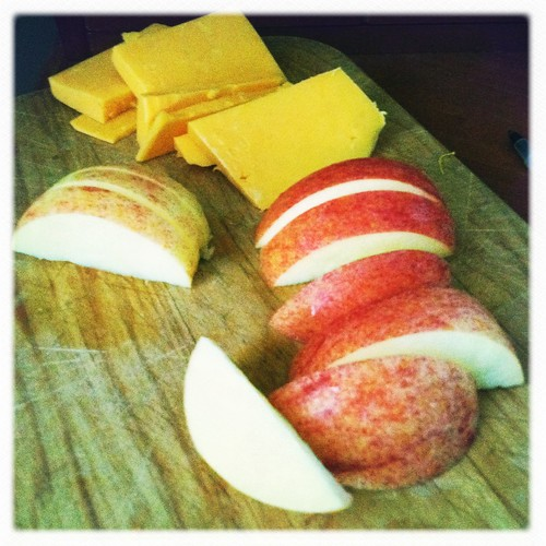 apples and cheddar