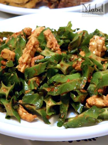 Sambal tempeh & four angle beans