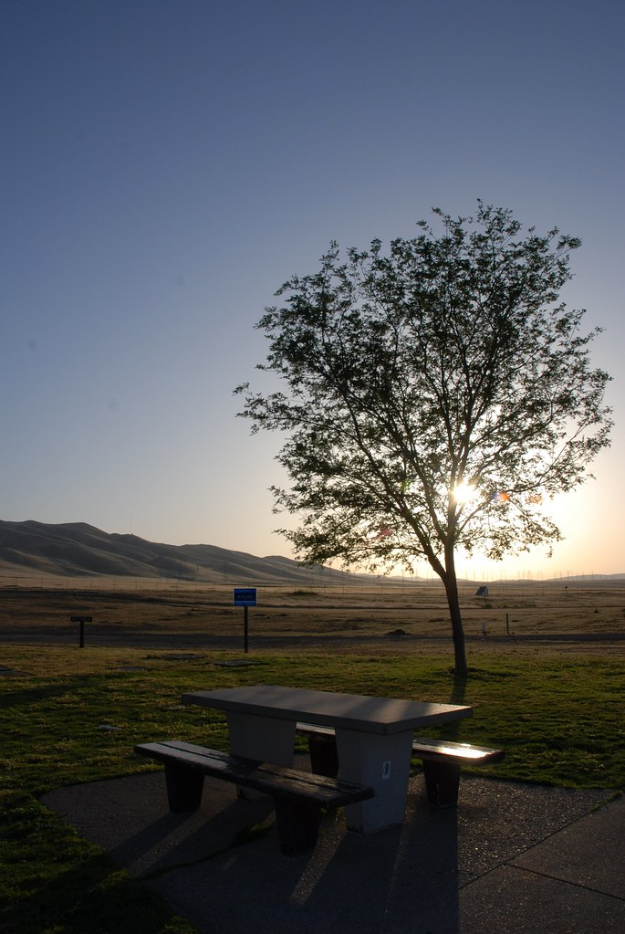 Evening view at Westley Rest Area