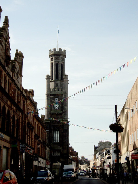 High Street in Ayr, Scotland