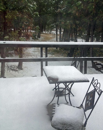 Snow on my deck