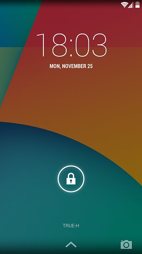 Lock screen ของ LG Nexus 5
