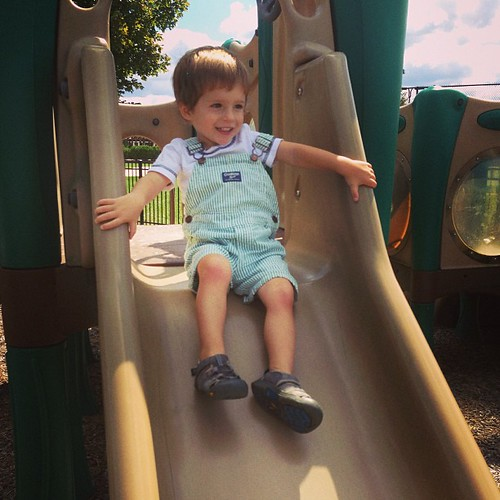 The best kind of day for the playground.