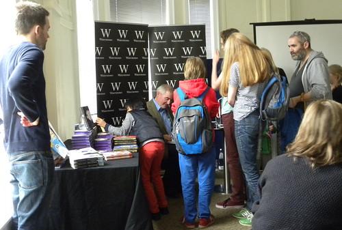 Chris Riddell signing queue