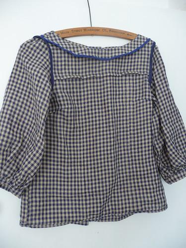 Linen Check Handmade Mathilde Blouse