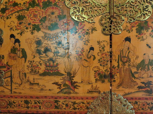 The Witcombe Cabinet, Japanned and silvered woodm about 1697