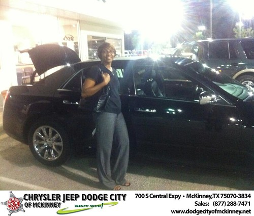 Chrysler Jeep Dodge City of McKinney would like to say Congratulations to Tanya Webb on the 2012 Chrysler 300 by Dodge City McKinney Texas