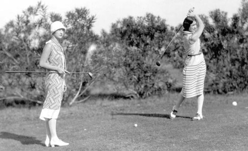 Golfers on the Coral Gables Country Club