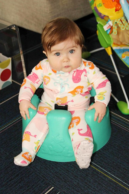 Harper's last time in the bumbo