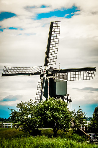 Windmill outside of Amsterdam, The Netherlands