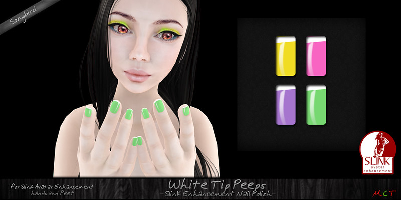 ~SongBird~ White Tip Peeps Nailpolish