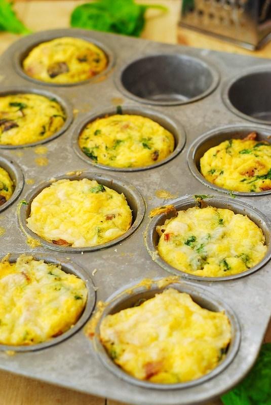 mini muffin per la colazione salata