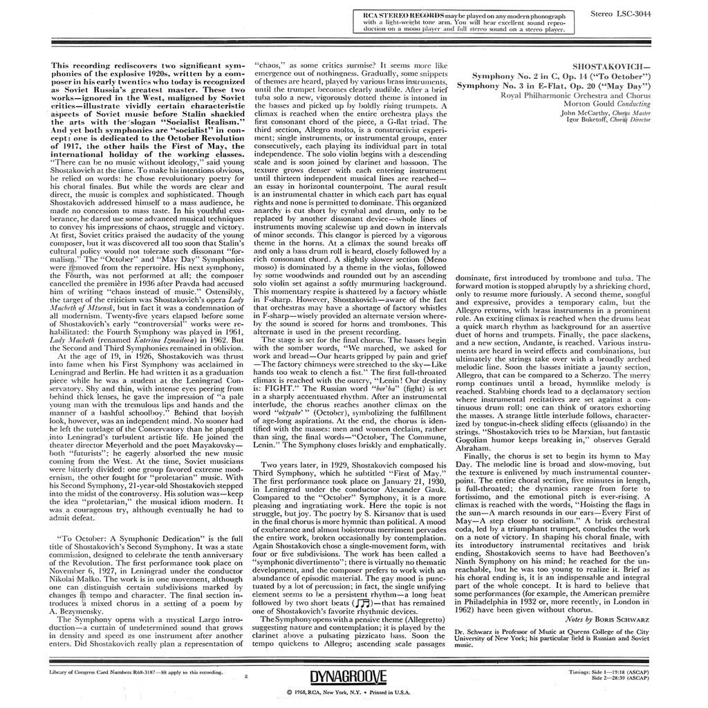Dmitri Shostakovich - Symphonies 2 & 3