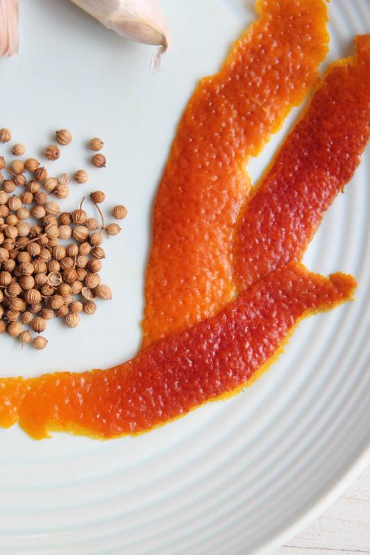 blood orange zest