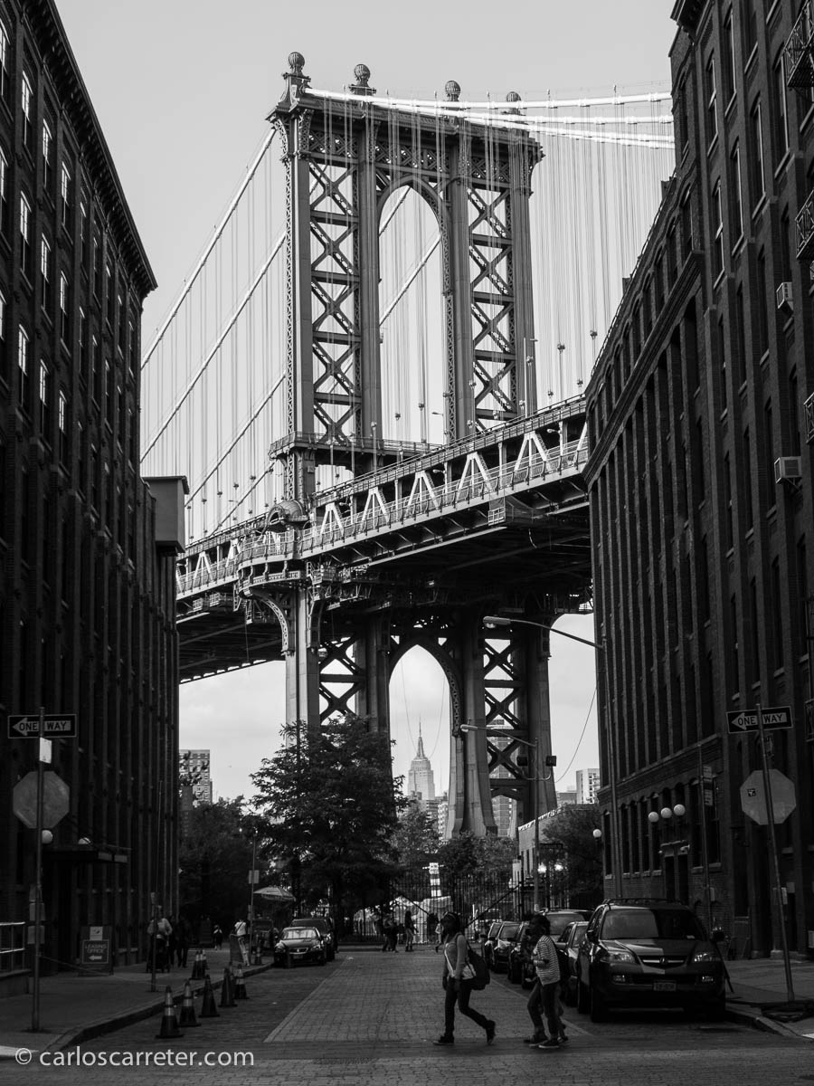 Manhatan Bridge desde Washington St (Bklyn)