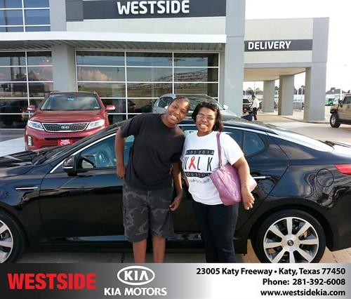 Westside KIA Houston Texas Customer Reviews and Testimonials-Tisha Sparrow by Westside KIA
