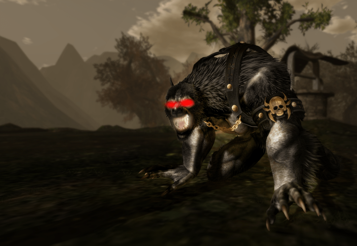 Astanias in his lycan form.